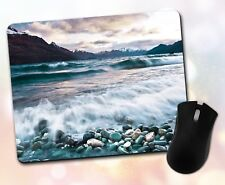 Nature ~ Water, Waves, Scenic, Rocks, Mountains, Gift, Decor ~ Vivid Mouse Pad