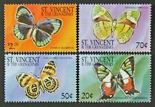 B113 ST. VINCENT 2001 Butterflies set of 4 Mint NH