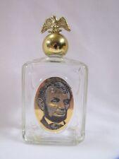 Vintage Avon Cologne Bottle Abraham Lincoln Bottle w Eagle Lid