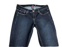 Torrid Denim Women's Plus Size Crop Jeans Size 16 (34x24) Dark Wash Stretch