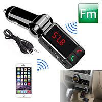 12V Car Kit Wireless Bluetooth FM Transmitter MP3 Player 2 USB Handsfree Speaker