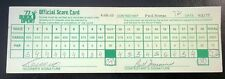 Pga Golf 1977 Buick Open Tournament Scorecard Paul Moran 9/1/77