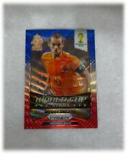 2014 Panini Prizm World Cup Blue Red Wave Stars Wesley Sneijder - Netherlands 22