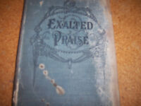 Exalted Praise Song Book  VERY OLD Collection of Sacred Hyms