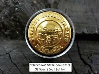 Old Rare Vintage Antique War Relic Nebraska Officer Coat Button