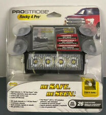 ProStrobe Rocky 4 Pro 12-24V White LED Dash Light #70755.  New, Sealed Packaging