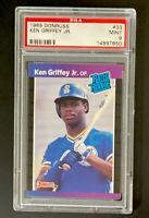 1989 DONRUSS #33 PSA 9 ROOKIE RC KEN GRIFFEY, JR.