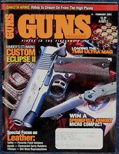Magazine *GUNS* February 2002 SAVAGE Model 10ML-II RIFLE, Rifles of DAKOTA ARMS