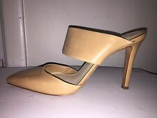 Jessica Simpson Shoes Stilettos size 9 Chandra Nude Tan Leather Mules Heels