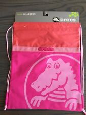Crocs Children's Duke Sackpack Drawstring Backpack Pink/orange
