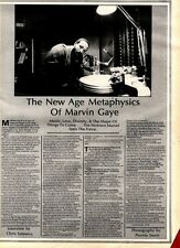 28/2/81PGN27 ARTICLE & FULL PAGE POSTER OF MARVIN GAYE