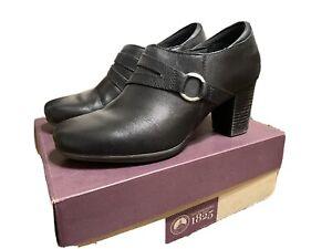 Clarks Genette Curve Black Womens Shoes Size 9M