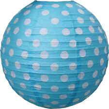 JaBaDaBaDo Papier Lampenschirm Kinderzimmer Lampe Hängelampe Blau / Weiß ø 50cm