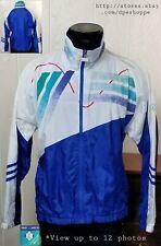 Jimmy Connors Slazenger Court Windbreaker Lined Full Zip Tennis Jacket Lg *Note