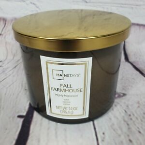 Mainstays 14oz Fall Farmhouse Highly Fragranced 3 Wick Candle