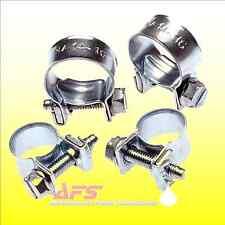 10 x 9mm - 11mm JUBILEE Nut & Bolt Mini Fuel Pipe Hose Clip Tubing Clamp EU Nano