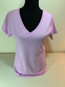 Light Purple V-Neck T-Shirt Short-Sleeve Teens Extra-Large