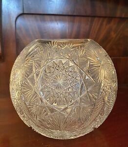American Brilliant Period Cut Glass Rose Bowl
