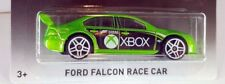 GREEN FORD FALCON RACE CAR ~ X BOX. FORZA MOTORSPORT  ~ 2017 HOTWHEELS WORN CARD