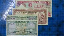 Cambodia 1, 10 & 500 Riel (4 Pieces) Condition F - VF