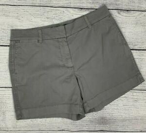 Womens J. Crew Chino Gray Shorts sz 4 Cotton Blend New NWT