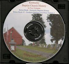 Kentucky Baptist Church History - In 2 Vol + Southern Baptists Free Press 1956