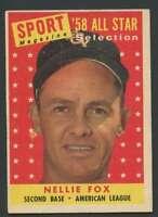 1958 Topps #479 Nellie Fox EXMT/EXMT+ White Sox AS 29461