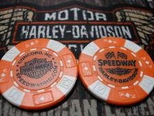 Harley Orange & White Poker Chip Speedway Harley Davidson Concord, NC