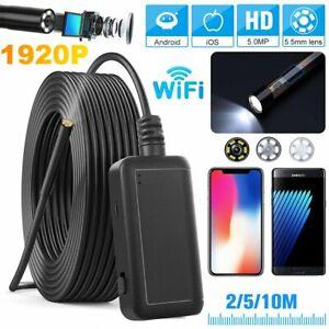 WiFi Endoskop FHD 2560x1920P 6LEDs Inspektion Kamera USB Endoscope Rohrkamera