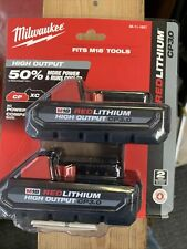 Milwaukee 48-11-1837 M18 Redlithium High Output Cp 3.0Ah Batteries, 2-Pack