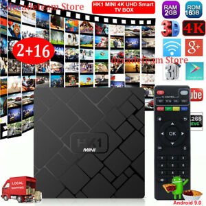 Android 9.0 Smart TV Box Quad Core 2+16G USB 3.0 Media Player 4K Streamer WIFI