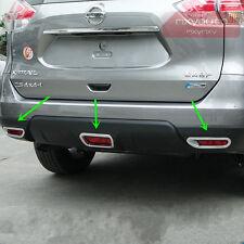 Rear Bumper Fog+Brake Light Chrome Cover For Nissan X-trail Rogue 2014 15 2016
