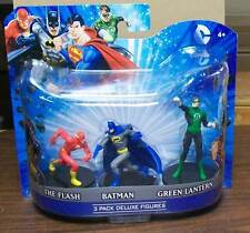 "DC HEROES 4"" PVC FIGURES SET OF 3 BATMAN FLASH GREEN LANTERN NIP  #ssep15-320"