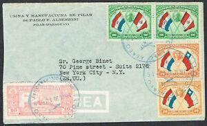 Paraguay 1939 Airmail Asuncion to New York, USA
