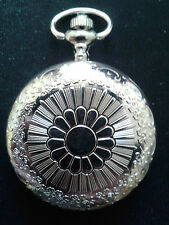 10 X POCKET WATCH NO.8 STAINLESS STEEL  HUNTER. IDEAL GIFT/COLLECTABLE