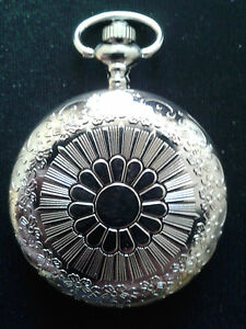 POCKET WATCH NO.8 STAINLESS STEEL  HUNTER. IDEAL GIFT/COLLECTABLE
