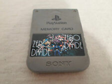 Tested Official Grey Playstation 1 *Zero Divide 2* Memory Card PS1 for Japan/US