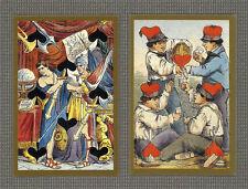 CARTE TOSCANE CIRCA 1890 TRANSFORMATION PLAYING CARDS  REPLICA - LIMITED EDITION