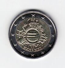 MONEDA 2 EUROS C. BELGICA 2012. ANIVERSARIO EURO. SIN CIRCULAR