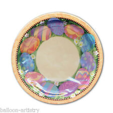 "8 Elegant Easter Eggs SMALL 7"" Disposable Paper Party Plates"