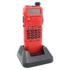 Red BaoFeng UV-5R Dual UHF/VHF Radio Transceiver 3800mah Battery walkie talkie