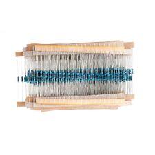 1000 Pcs 50 Values 1/4W Metal Film 1% Resistor Resistance Assortment Kit Set