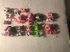10 Lot Hasbro Littlest Pet Shop LPS With Extras