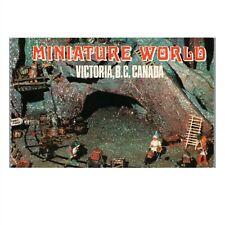 Vintage c1973 Chrome Postcard: Miniature World Empress Hotel Victoria BC Canada