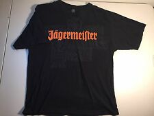 Jaegermeister Double-side Printed Black T-Shirt- Size Large