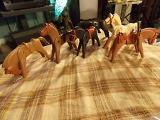 1974 Playmobil GEOBRA Western Horse TOY Miniature CHARACTOR Lot of 5 VG !