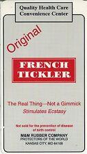 vtg condom machine decal sticker vending NOS Tropical French Tickler original