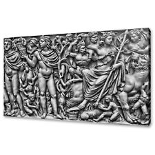ANCIENT ROMAN MARBLE SARCOPHAGUS BLACK WHITE CANVAS PRINT WALL ART PICTURE