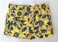 J Crew Factory - Women's 0 (XS) - NWT - Yellow Sunflower Floral Boardwalk Shorts