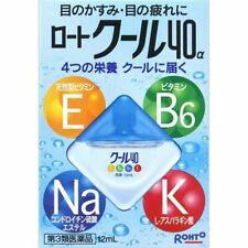 Rohto Cool 40a alpha 12ml Eye Drops Free angle nozzle easy care From Japan DK5e
